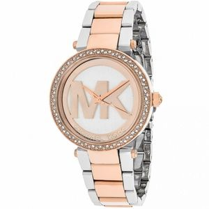 Silver and Rose Gold In The Box Women Watch Mk6314
